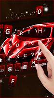 Red Racing Sports Car Keyboard Theme