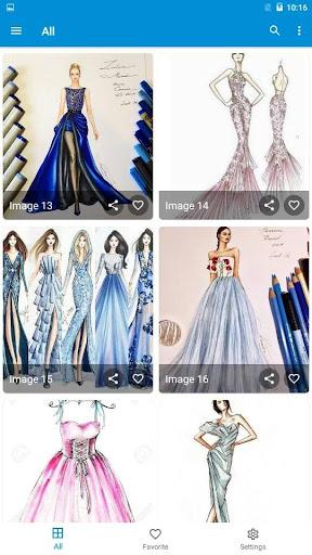 Creative Fashion Design Flat Sketch Ideas  Screenshots 8