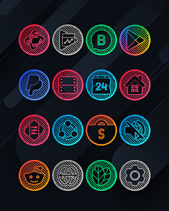 Lines Circle APK- Neon Icon Pack [PAID] Download for Android 9