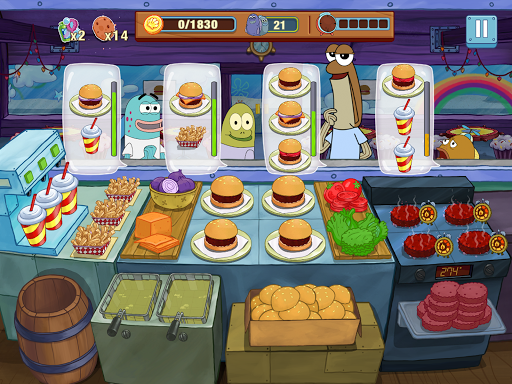 Télécharger Bob l'éponge : Cuisine en Folie mod apk screenshots 2