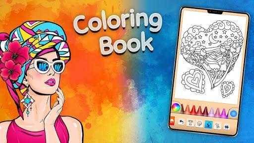 Girls games: Painting and coloring  screenshots 14