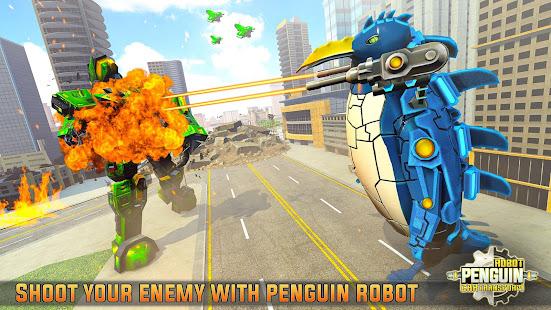 Penguin Robot Car Game: Robot Transforming Games 5 screenshots 1
