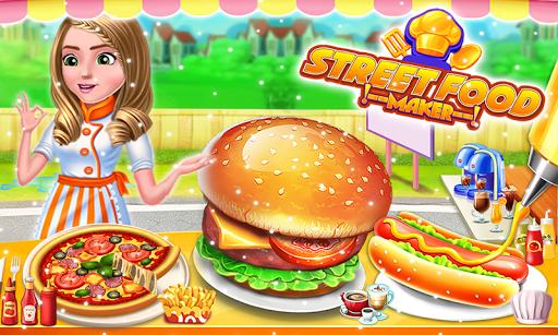 Street Food Pizza Maker - Burger Shop Cooking Game 1.1 screenshots 1