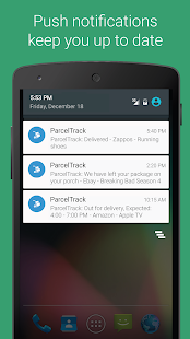 ParcelTrack - Package Tracker for Fedex, UPS, USPS Screenshot