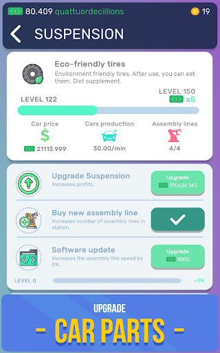 Télécharger Gratuit Car Industry Tycoon - Idle Car Factory Simulator apk mod screenshots 5