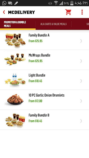 McDelivery Singapore  Screenshots 3