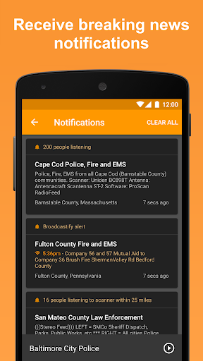 Scanner Radio - Fire and Police Scanner modavailable screenshots 4