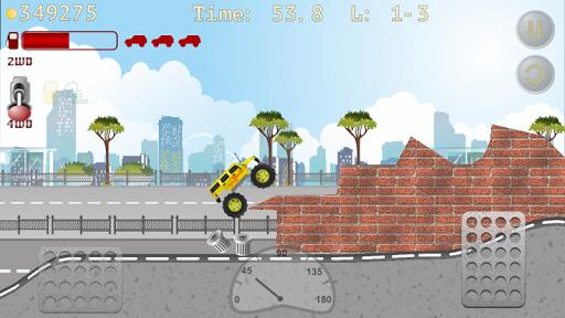 monster truck hill racer screenshot 2