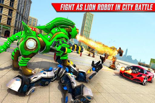 Lion Robot Car Transforming Games: Robot Shooting 1.8 Screenshots 6