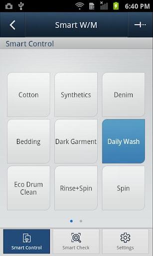 SAMSUNG Smart Washer/Dryer screenshots 2