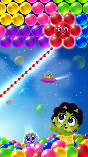 Space Cats Pop - Kitty Bubble Pop Games apkmr screenshots 3