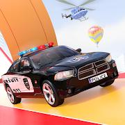 Mega Ramp Police Car Simulator: Ramp Car Stunts 3D