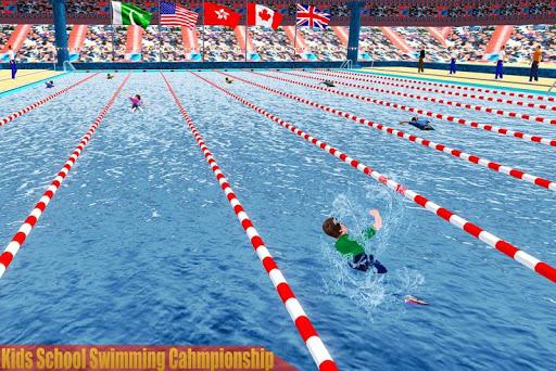 Kids Swimming Pool Water Race Championship 2020 0.1 screenshots 1