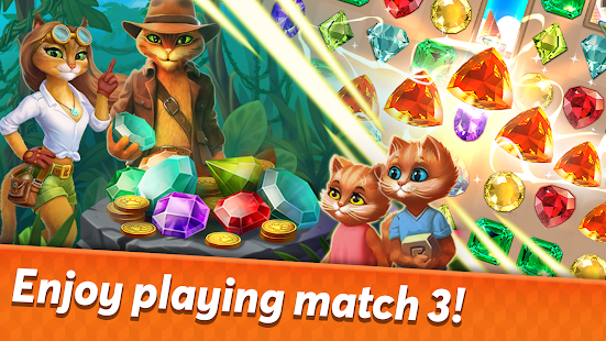 indy cat 2: match 3 free game - jigsaw, puzzles hack