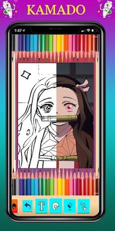 coloring game for Kimetsu no yaibaのおすすめ画像1