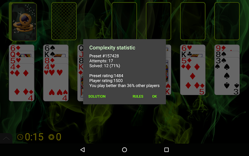 Spider Solitaire (Web rules)  screenshots 23