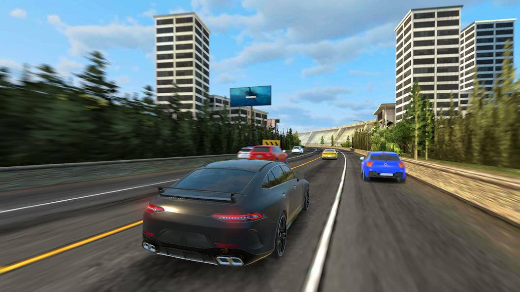 Racing in Car 2021 - POV traffic driving simulator  poster 1