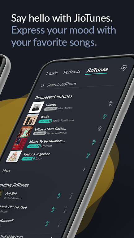 JioSaavn Music & Radio – JioTunes, Podcasts, Songs  poster 6
