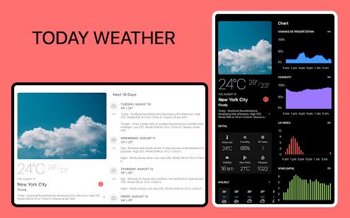 Today Weather - Weather Forecast, Widget & Radar screenshots 7