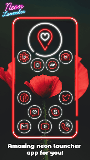 Neon Launcher App: Cool Launcher Themes modavailable screenshots 3