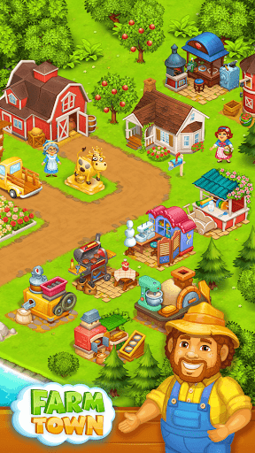 Farm Town: Happy farming Day & food farm game City  screenshots 2