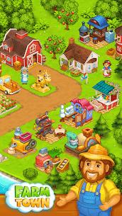 Farm Town  Happy farming Day  food farm game City Apk Download 2021 2
