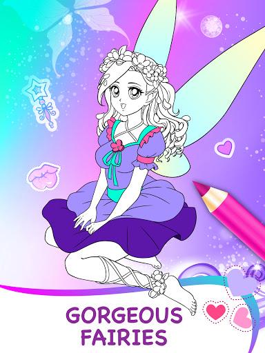 Magic Fairy Coloring Book for Girls Apkfinish screenshots 4