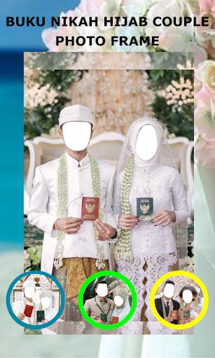 Book Wedding Hijab Couple Photo Frame 1.3 Screenshots 1