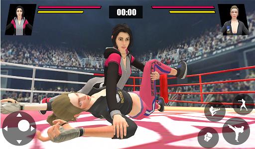 Women Wrestling Ring Battle: Ultimate action pack apkslow screenshots 12
