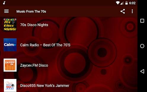 Music From The 70s - Disco, Funk, Rock Screenshot