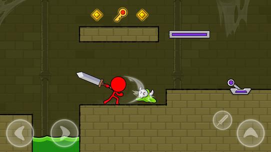 Kırmızı Çöp Adam: Animasyon vs Çöp Adam Dövüşü Apk İndir **2021* 4