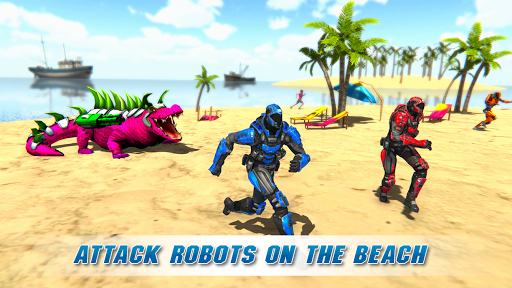 Real Robot Crocodile Simulator- Robot transform 1.0.12 screenshots 15