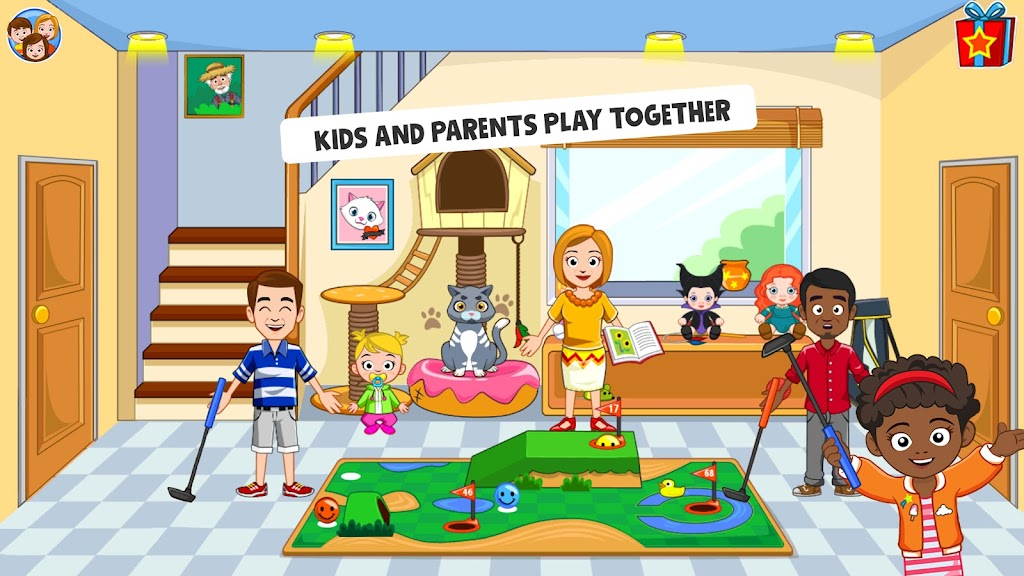 My Town : Best Friends' House games for kids poster 1