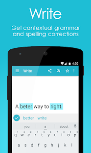 Page: English Grammar & Spell Checker + Translator Screenshot