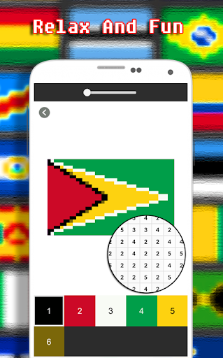 Flags Coloring By Number - Pixel  screenshots 6