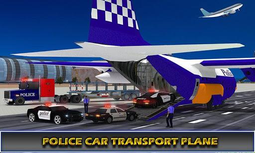 us police airplane cop dog transporter kids games screenshot 2