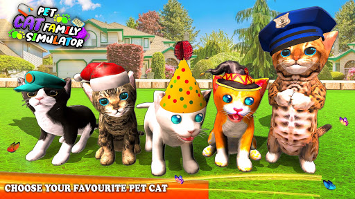 Pet Cat Simulator Family Game Home Adventure Apkfinish screenshots 4