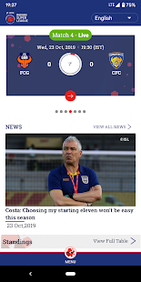 Indian Super League - Official App Screenshot