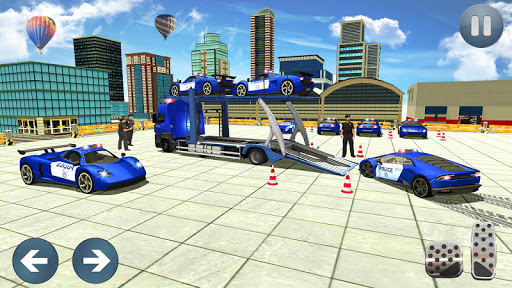 Police Car Transporter 3d: City Truck Driving Game 3.0 screenshots 3