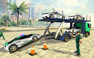 Police Car Simulator: Army Transport Truck Driving