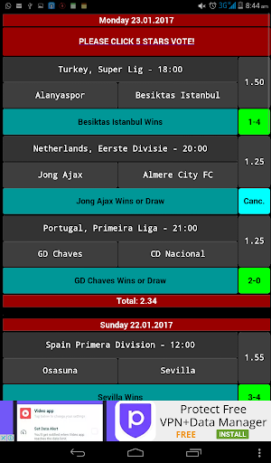 daily betting tips - 2 odds screenshot 1