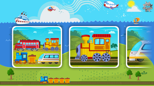 Trains Jigsaw Puzzles for Kids apkmr screenshots 17