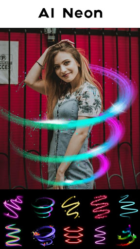 Neon Photo Editor - Photo Filters, Collage Maker  screen 0