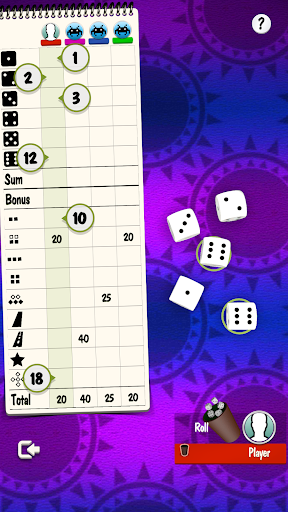 Yatzy Offline and Online - free dice game  screenshots 2
