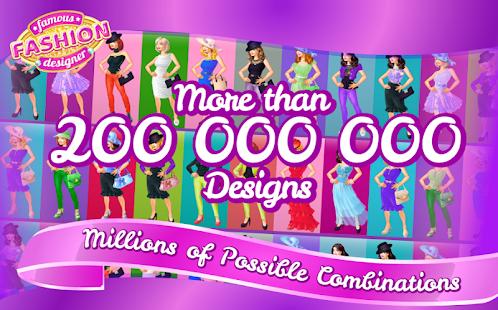 有名なファッションデザイナーのドレスアップゲーム