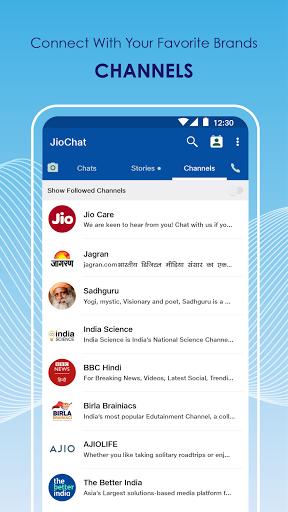 JioChat: HD Video Call android2mod screenshots 5