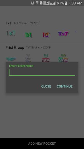 TxT Sticker Maker for WhatsApp u2013 GB WA  Screenshots 4