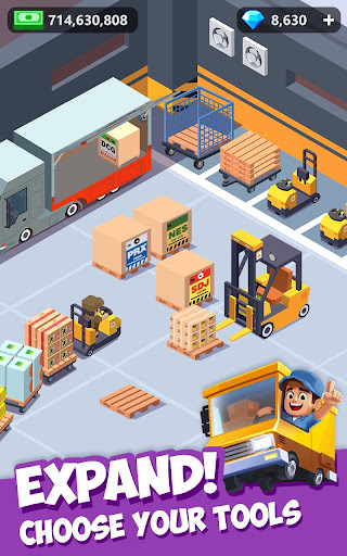 Idle Courier Tycoon - 3D Business Manager android2mod screenshots 16