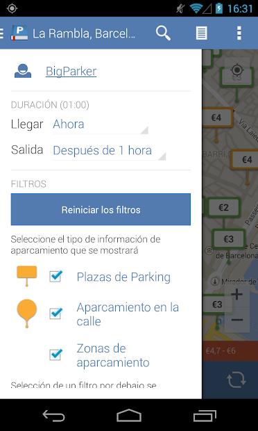 Captura 6 de Parkopedia Estacionamiento para android