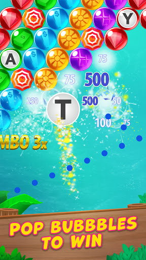 Bubble Pop: Wheel of Fortune! Puzzle Word Shooter apkpoly screenshots 2